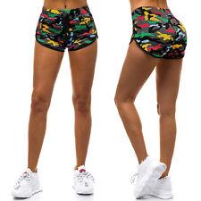 Pantalones cortos shorts pantalones de deporte corto tiempo libre Basic slim fit señora ozonee 13926 Mix