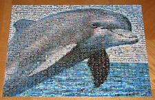 "Dolphin PHOTOMOSAICS 1000 Pc Puzzle assembled to frame 27"" x 20"" Wall Art"