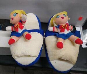VINTAGE OFFICIAL  Sailor Moon S SAILOR MOON Banpresto PLUSH SLIPPERS
