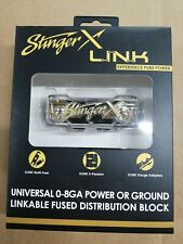 Stinger Xlink 0 4 8 Awg Gauge Power / Ground Fuseholderfused Distribution Block
