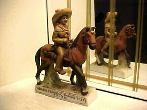 """General Francisco """"Pancho"""" Villa and Horse Mini Decanter Bottle - First Edition"""