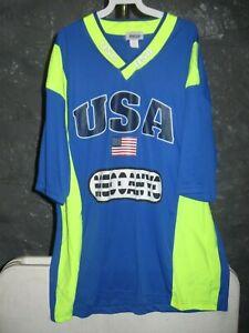 USA Soccer Mecca Green and Blue Team USA Goalie 2XL Jersey