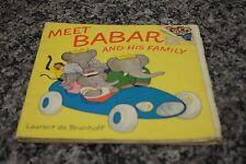 MEET BABAR AND HIS FAMILY BY LAURENT DE BRUNHOFF 103542-1 LOC,Q-4 #28