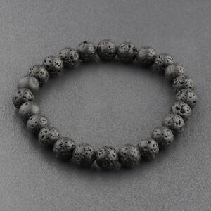 Dragon Head Lava Howlite Chakra Stone Bead Prayer Mala Bracelets For Men Women