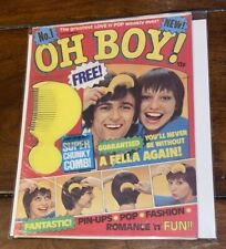 UK COMICS - Oh Boy Magazine No.1 with FREE GIFT - 1976.