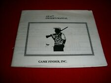 Game Finder Inc. GF-A Owners manual
