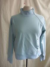"""Ladies Jumper - Firetrap, size L, turquoize, side/neck zip, cotton, 38"""" 7593"""