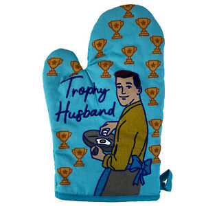Trophy Husband Oven Mitt Funny Wedding Gift Fiance Cooking Kitchen Glove (Oven