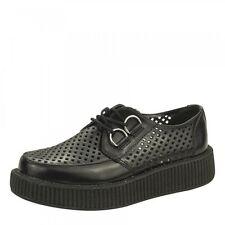 T.U.K AV8883 Shoes Viva Lo Sole Creeper Perforated Creeper In BLACK A8883 Size 4