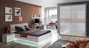 Jugendzimmer komplett Set Bett 140 x 200cm Kleiderschrank mit Schwebetüren 41210