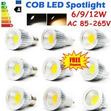 Mr16 gu10 e14 e27 LED 6/9/12w cob spot pera lámpara lámpara de instalación emisor de luz