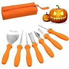 Halloween Pumpkin Carving, 7 Piece Professional Cutting Stainless Steel Tools