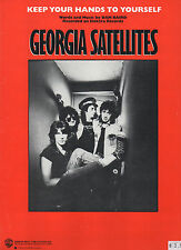 Georgia Satellites sheet music Keep Your Hands to Yourself '87 6 pp. (NM shape)