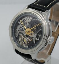 1880s Swiss 5 Five Minute Repeater Skeleton marriage wrist watch 31 jewels