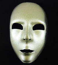 Silver Face Mask Space Man Halloween Disco Diva Fancy Dress