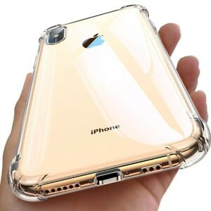 iPhone 12 11 Pro 6 6s 7 8 Plus X XR XS MAX Hybrid Shockproof Thin Clear TPU Case