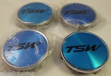 TSW Wheels Chrome Custom Wheel Center Caps Set of 4 # C-F82 NEW!