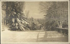 North Conway NH in Winter c1910 Real Photo Postcard