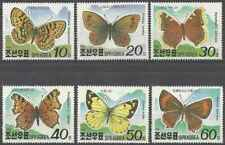 Timbres Papillons Corée 2188/93 ** (37730)