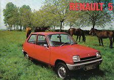 RENAULT 5 L TL 1974-75 Originale Regno Unito delle vendite sul mercato opuscolo
