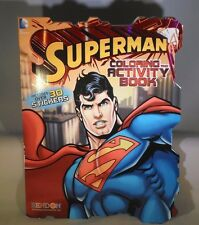DC Comics SuperMan Coloring &  Activity Book + Stickers        TC18