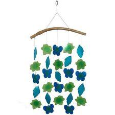 Fair Trade String Capiz Shell & Leaves Mobile Sun catcher Hanging Decoration