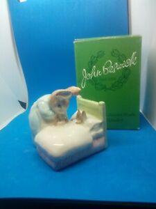 Beatrix Potter Figure Peter Rabbit In Bed  Beswick Boxed