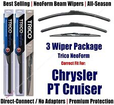 3pk Wipers Front/Rear NeoForm fit 2001-2010 Chrysler PT Cruiser 16200/210/30160