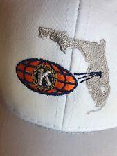 Florida K Orange Globe Snap Back Hat