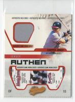 2003 Fleer Authentix Game Jersey Braves Baseball Card #CJ Chipper Jones