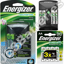 Energizer Pro Battery Charger for AAA AA Includes 8 x AA 2000mAh Batteries 3hr