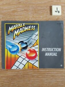 Marble Madness NES  *INSTRUCTIONS ONLY* Very Good Condition For Age.