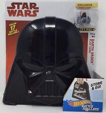 Star Wars Hot Wheels Darth Vader Battle Rollers Figure Play Case Set Tie Fighter