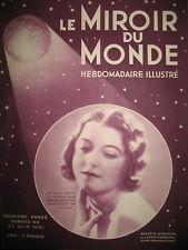 MISS BELGIQUE DEVIENT MISS UNIVERS COLLEGE DE FRANCE LE MIROIR DU MONDE 1931
