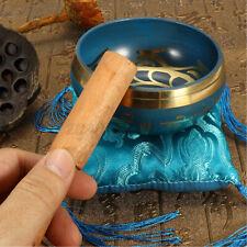 More details for meditation healing singing bowl + cushion striker tibetan buddhism nepal yoga uk