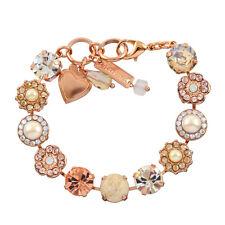 """Mariana Kalahari Rose Gold Plated Crystal Tennis Bracelet, 8"""" 4084 1078"""