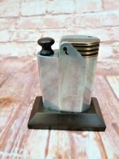 More details for rare vintage 1930s art deco aluminium & bakelite table top lighter.