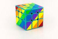 Green Lite Mirror Rainbow Odd 3-layered 3x3x3 Magic Cube Twist Puzzle By Yongjun