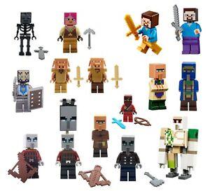 NEW LEGO Minecraft Minifigures - 21164, 21137, 21160, 21159, 21168, 21167, 21165