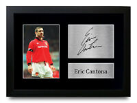 Eric Cantona Signed A4 A3 Framed Printed Autograph Manchester United Print Gift