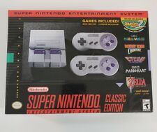 "SNES Classic Edition (Super Nintendo Entertainment System, 2017) ""NEW/SEALED"""