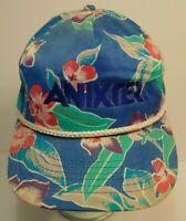Vintage 1990s ANIXTER ELECTRONIC CABLE WIRE HAWAIIAN SNAPBACK TRUCKER HAT CAP