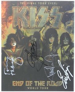 KISS End Of The Road Signed JSA Signed Autograph Photo Paul Stanley Gene Simmons