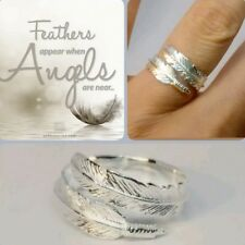 """Sterling silver angel feather ring  """"Feathers appear when angels is near """""""