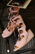 Unbranded Leather Wedge Lace Up Boots for Women
