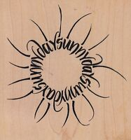 """sunny days wordsworth Wood Mounted Rubber Stamp 4 x 4"""" Free Shipping"""