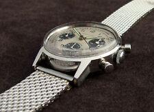 Carrera Hamilton Poor Heuer Valjoux 7736 Chronograph Watch Vintage Panda Swiss