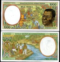 CENTRAL AFRICAN STATE REPUBLIC 1000 FRANCS 1999 P 302 F UNC