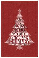 Words Christmas Red Mural inch Poster 36x54 inch