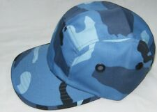SKY BLUE Street Hat 4 Side Holes ADJUSTABLE CAP LEATHER STRAP ONE SIZE FITS ALL